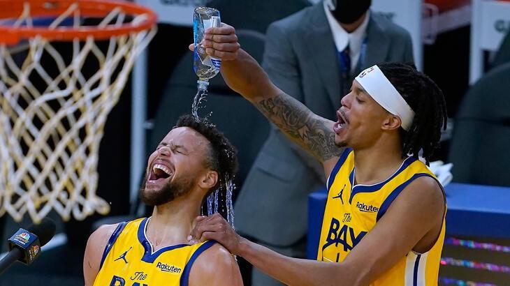 Stephen Curry 62 sayıyla kariyer rekoru kırdı