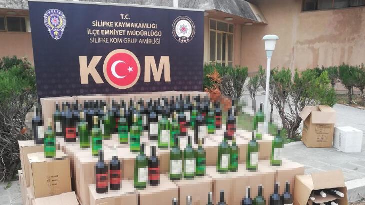 Mersin'de 1291 litre sahte içki ele geçirildi