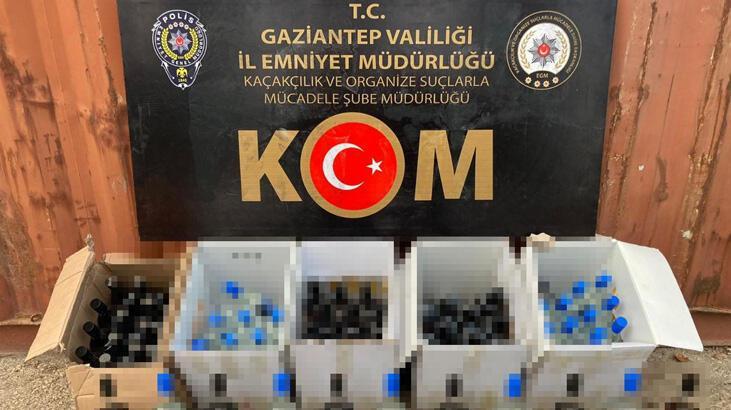 Gaziantep'te sahte içki operasyonu: 3 gözaltı