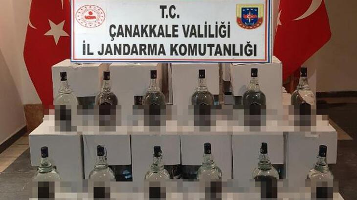 Çanakkale'de 888 litre kaçak etil alkol ele geçirildi!