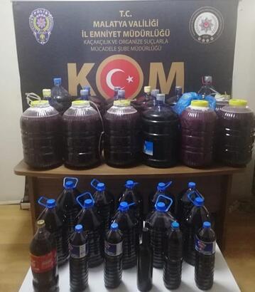 Malatya'da 394 litre sahte şarap ele geçirildi