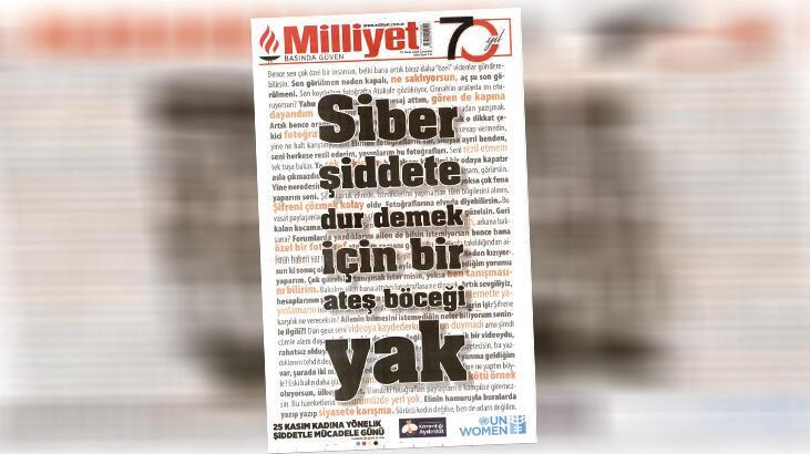 'Yılın en iyi manşeti' Milliyet'ten