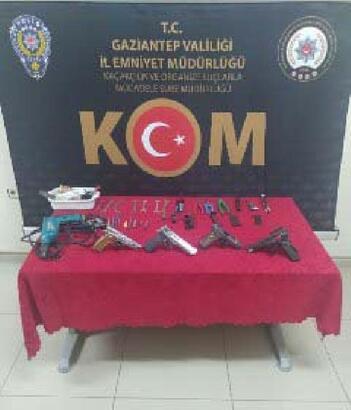 Kaçak silah imalathanesine operasyon: 1 gözaltı