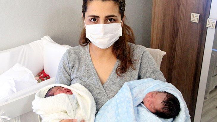 Koronavirüsü yendikten 3 gün sonra ikiz bebek dünyaya getirdi