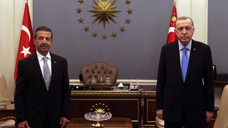 Cumhurbaşkanı Erdoğan, KKTC Dışişleri Bakanı'nı kabul etti