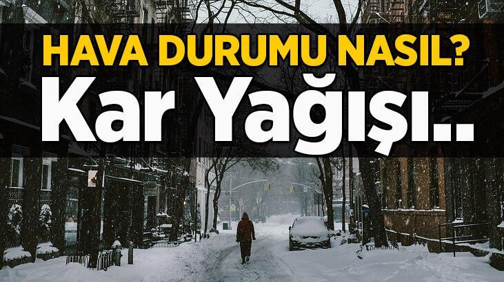 İstanbul hava durumu: Kar ne zaman yağacak? Meteoroloji son dakika