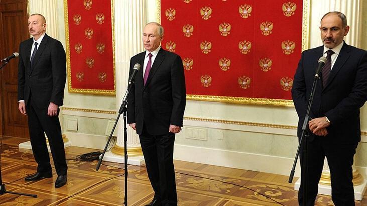 Son dakika... Moskova'daki üçlü toplantı! Putin, Cumhurbaşkanı Erdoğan'ı bilgilendirdi