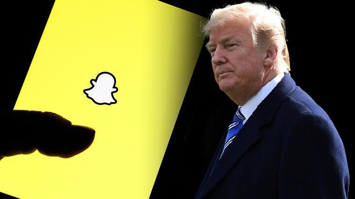 Trump'a bir darbe de Snapchat'ten! Hesabı kapatılıyor