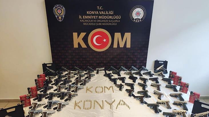 Konya'da bir araçta ele geçirildi! Tam 73 adet...