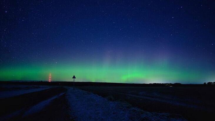 Gökyüzünde görsel şölen! Kuzey Işıkları hayran bıraktı...