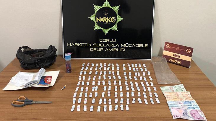Çorlu'da uyuşturucu operasyonu: 4 gözaltı