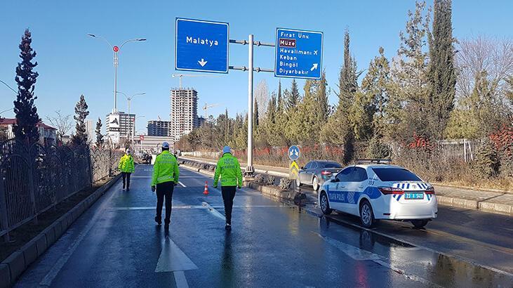 Elazığ'da zincirleme kaza! 18 araç karıştı, 1 yaralı