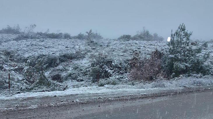 Manisa'da Turgutlu'ya 2021'in ilk karı düştü