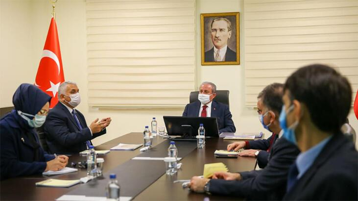 TBMM Başkanı Mustafa Şentop, Tekirdağ Valisi Yıldırım'ı ziyaret etti
