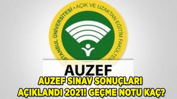 AUZEF sınav sonuçları sorgulama ekranı 2021 için TIKLA: AUZEF geçme notu kaç (İstanbul Üniversitesi )?