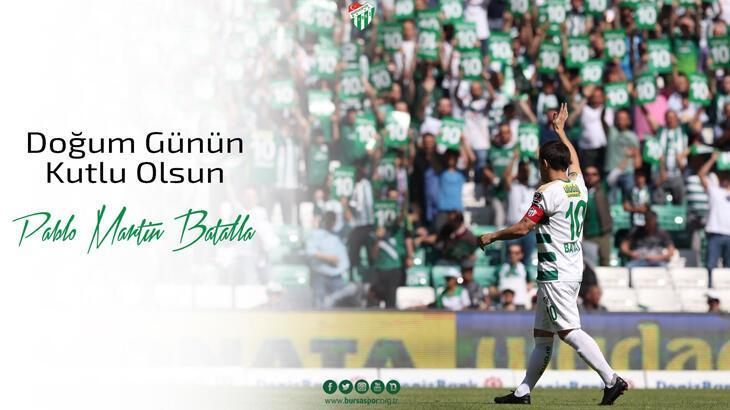 Bursaspor'dan Pablo Martin Batalla mesajı
