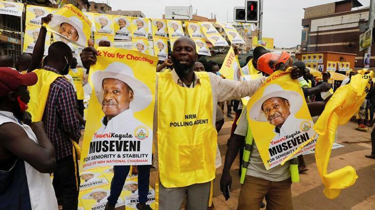 Uganda'da zafer 35 yıldır iktidarda olan Museveni'nin
