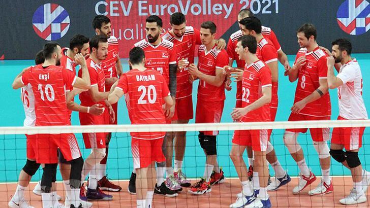 Son dakika - A Milli Erkek Voleybol Takımı'ndan 2021 CEV Şampiyonası'na katılım hakkı!