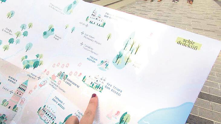 Şehir dedektiflerine İstanbul haritası