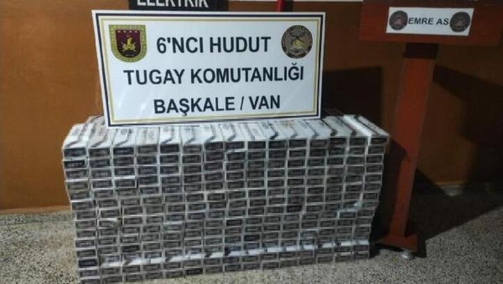MSB: Hakkari ve Van'da 15 bin 745 paket kaçak sigara ele geçirildi