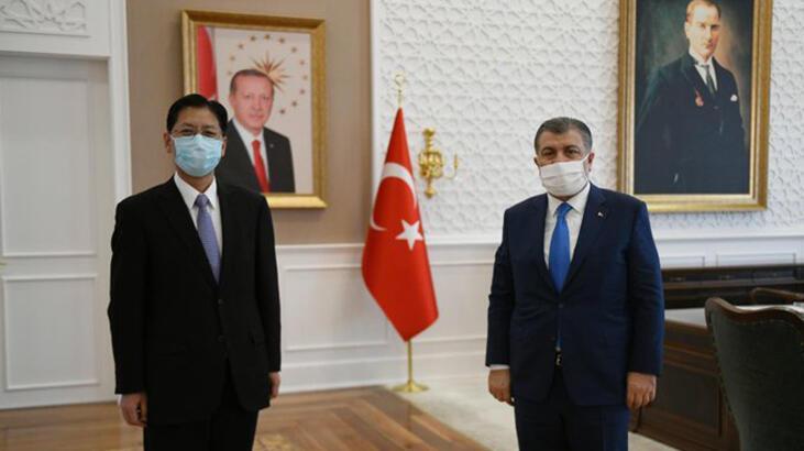 Sağlık Bakanı Koca, Çin'in Ankara Büyükelçisi ile görüştü