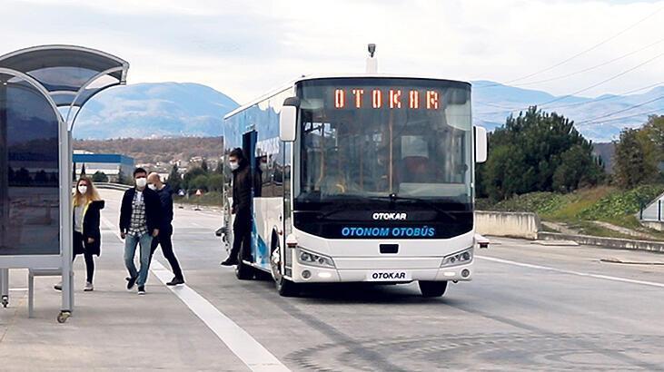 Sürücüsüz otobüs  testinde başarı var