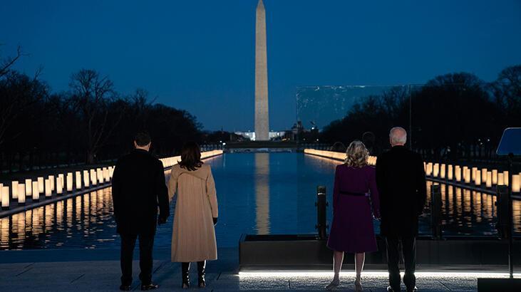Biden, Kovid-19'dan ölen 400 bin Amerikalı için anma töreni düzenledi