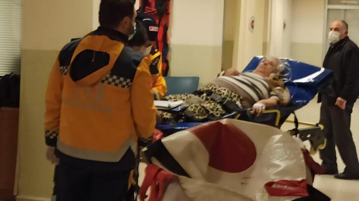 Sobadan sızan gazdan zehirlenen yaşlı çift, hastaneye kaldırıldı