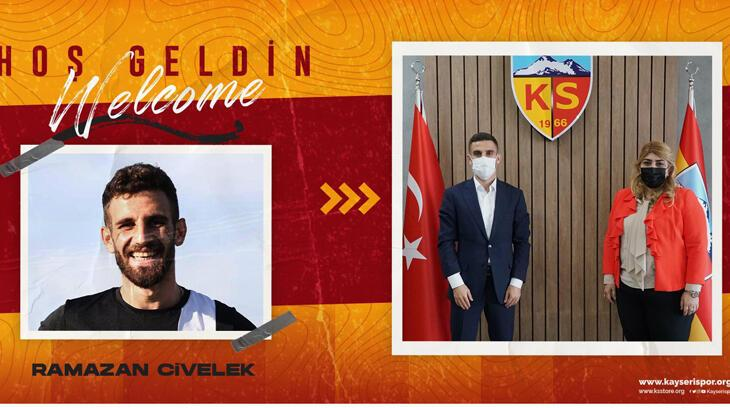 Son dakika - Kayserispor, Ramazan Civelek'i kadrosuna kattı