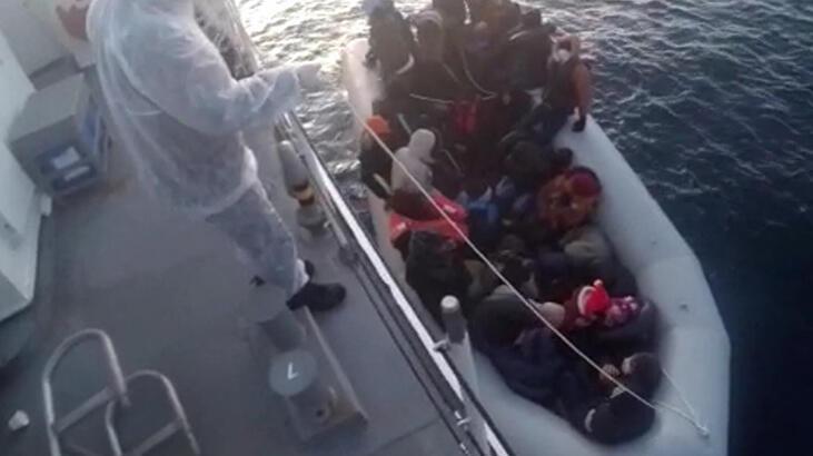 Yunanistan'ın Türk karasularına ittiği göçmeler kurtarıldı