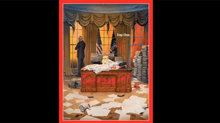Son dakika... Time'ın Beyaz Saray kapağı bomba etkisi yarattı