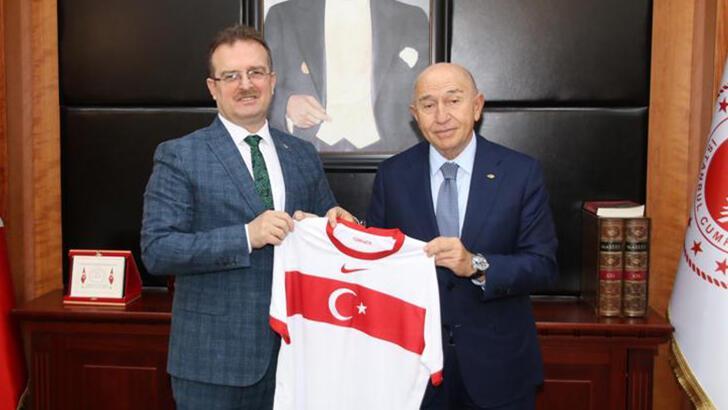 TFF Başkanı Nihat Özdemir, Cumhuriyet Başsavcısı Şaban Yılmaz'ı  ziyaret etti