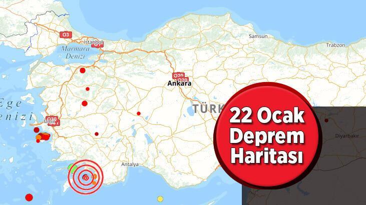 Son dakika deprem haberleri: AFAD - Kandilli deprem listesi sorgula | Deprem mi oldu 22 Ocak?