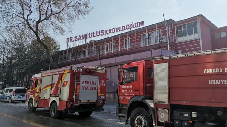 Ankara'da hastanede yangın paniği! 2 kişi dumandan etkilendi