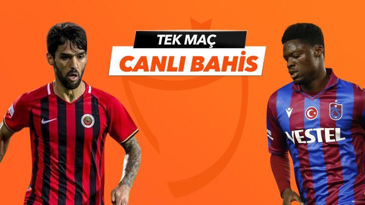 Gençlerbirliği-Trabzonspor karşılaşmasında Canlı Bahis heyecanı Misli.com'da!