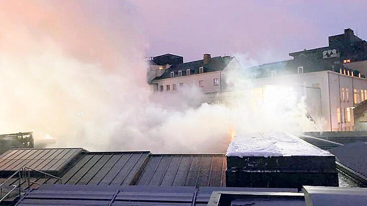 Brüksel'de müze yangını