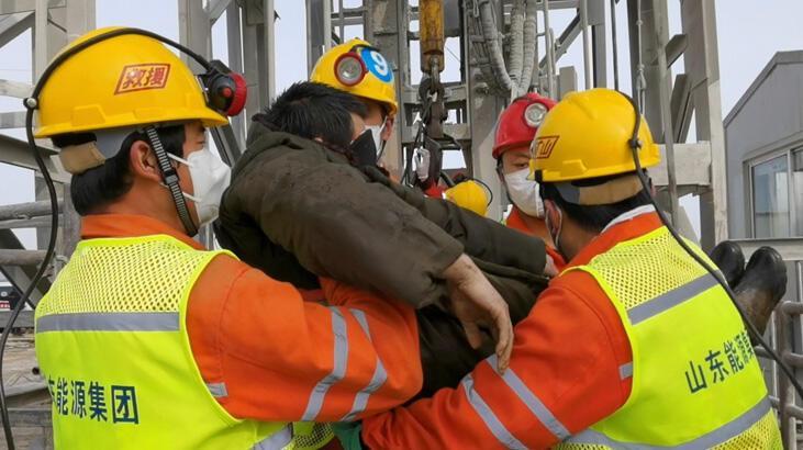 Çin'de yerin 600 metre altındaki madenciler kurtarıldı