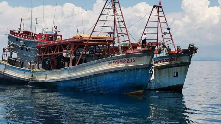 Malezya karasularına izinsiz giren Vietnamlı 16 balıkçı gözaltına alındı