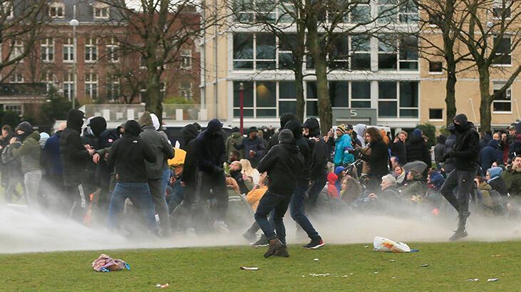 Hollanda'daki protestolar Lahey kentine de sıçradı