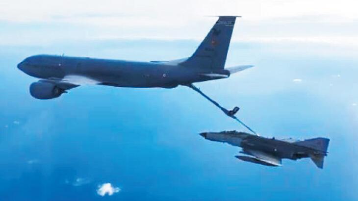 F-16 ve F-4'ler Doğu Akdeniz'de uçtu