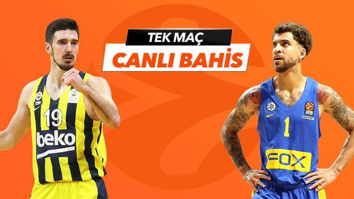Fenerbahçe Beko - Maccabi Tel Aviv maçı Tek Maç ve Canlı Bahis seçenekleriyle Misli.com'da