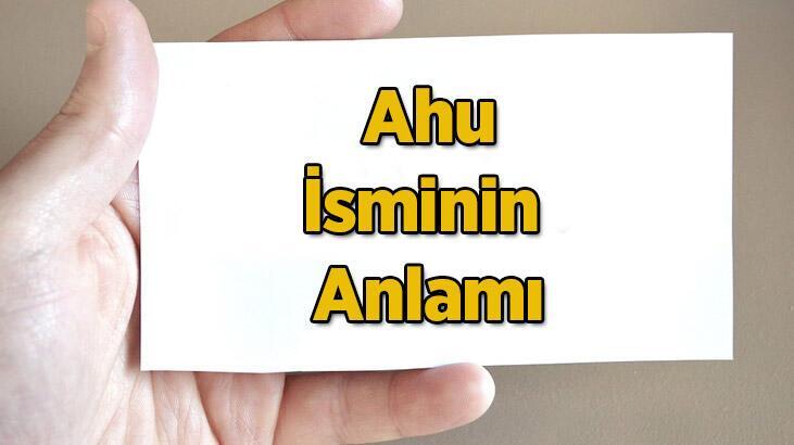 Ahu İsminin Anlamı Nedir? Ahu Ne Demek, Hangi Anlama Gelir?