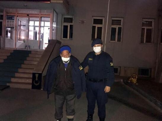 Donmak üzere bulunan kişi, bakım evine yerleştirildi