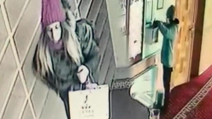 Kız arkadaşla camiye girip hırsızlık yaptı!