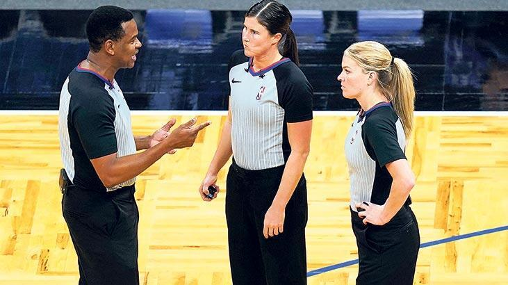 NBA'de ilk kez bir maçta iki kadın hakem