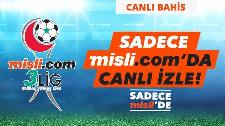 Misli.com 3. Lig Canlı Yayınları ve Canlı İddaa (27 Ocak)