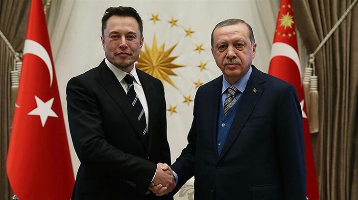 Son dakika... Cumhurbaşkanı Erdoğan, Elon Musk ile görüştü!