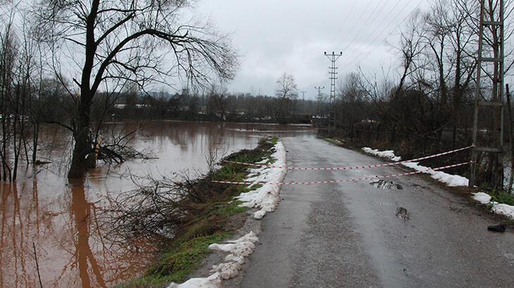 Bartın Irmağı'nın su seviyesi 2 günde yükseldi!