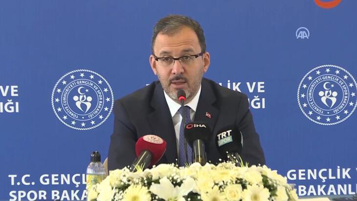Spor Bakanı Kasapoğlu'ndan önemli açıklamalar