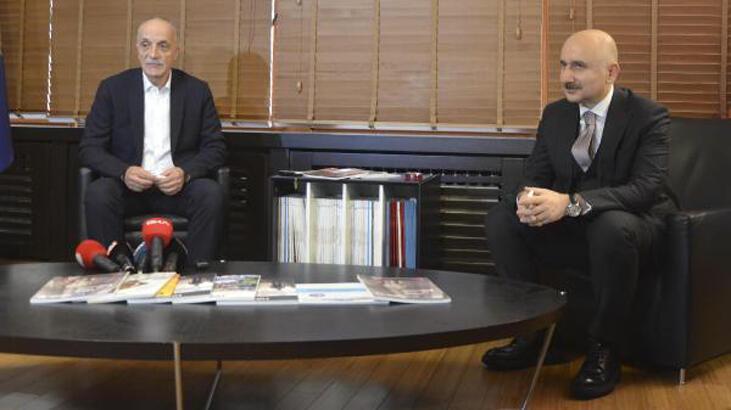 Bakan Karaismailoğlu'ndan Türk-İş'e ziyaret